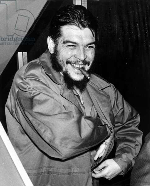 ERNESTO CHE GUEVARA, 12/11/64, after addressing US in a speech before the UN General Assembly--United Nations Building, NY.
