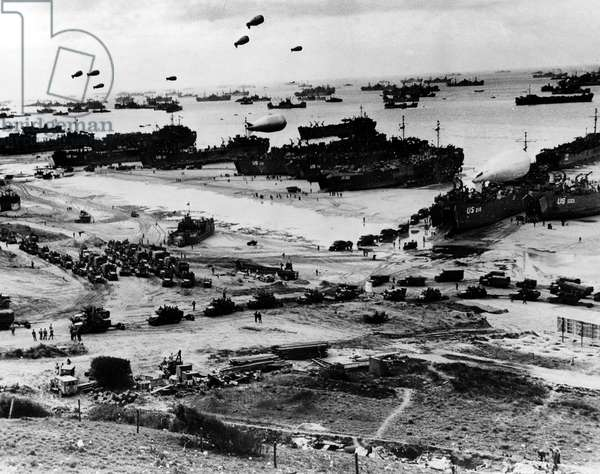 World War II, Normandy Beachhead invasion, France, June 6, 1944.