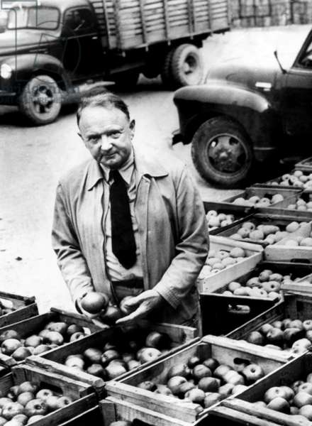 Harry F. Byrd at his apple canning factory in Berryville, Virginia, 1950