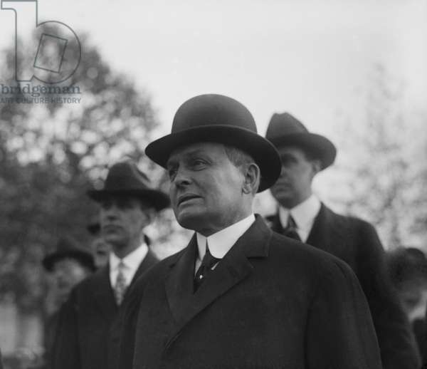 Harry A. Garfield (1863-1942), son of assassinated President James Garfield, was teaching at Princeton University when Woodrow Wilson appointed him to be the fuel administrator during World War I. 1918