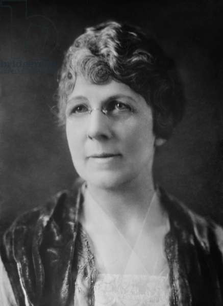 Florence Kling Harding, ambitious wife of Senator Warren Harding of Ohio. She was an influential advisor to her husband, who was U.S. President from 1921-23. Photo from 1919 or 1920