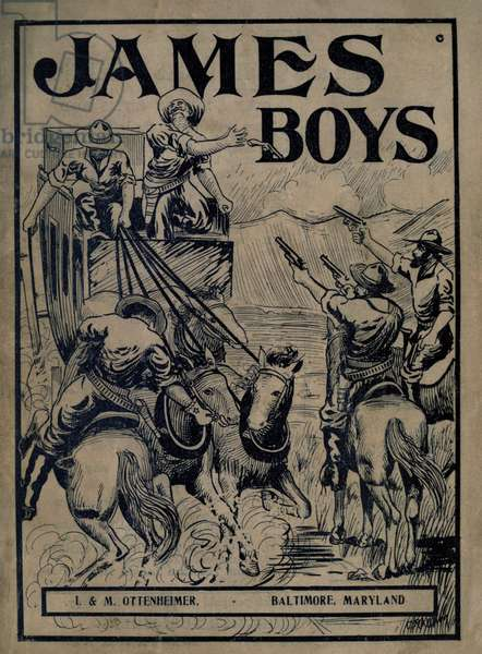 THE JAMES BOYS, DEEDS OF DARING, by James Edgar, 1911, with an illustration of the James Gang robbing of a stage coach