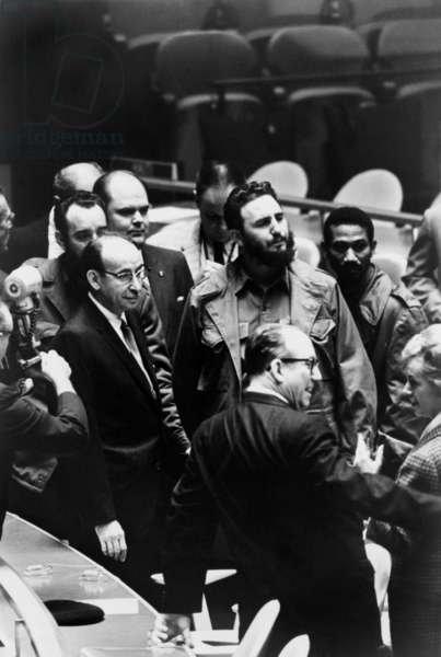 Fidel Castro, President of Cuba, at a meeting of the United Nations General Assembly, Sept. 22, 1960