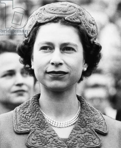 British Royalty. Queen Elizabeth II of England, c.late 1950s