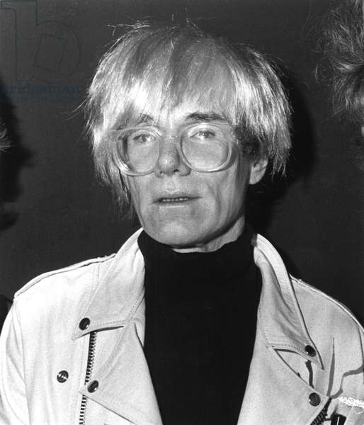 Andy Warhol at the opening of the Limelight in Chicago, 1980s