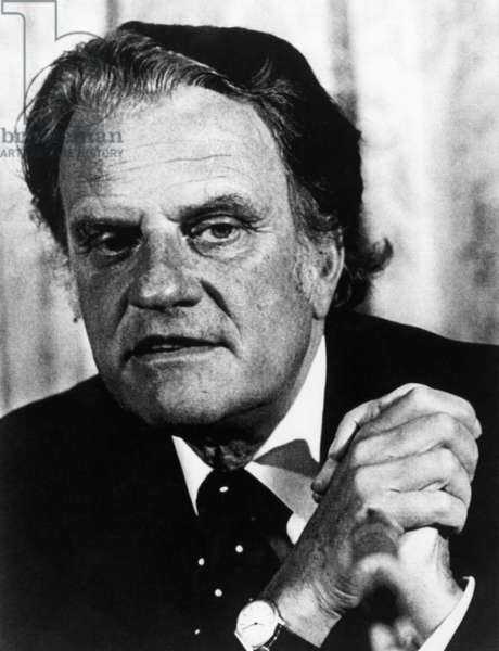 Evangelist Billy Graham. c. 1977.
