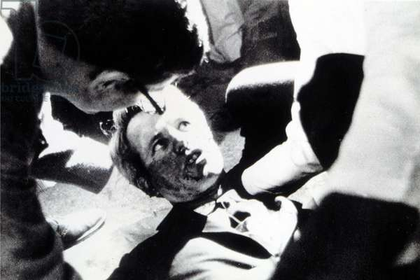 ROBERT KENNEDY, after being shot in Los Angeles, June 5, 1968