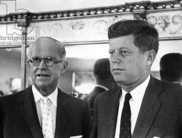 Joseph Kennedy Sr., John F. Kennedy, November 9, 1960