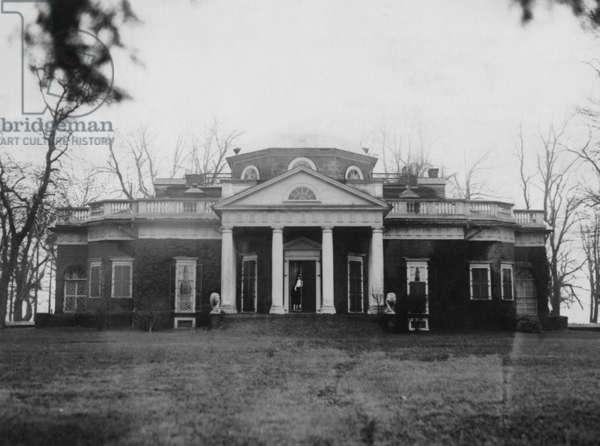 Monticello, home of Thomas Jefferson, c. 1923.