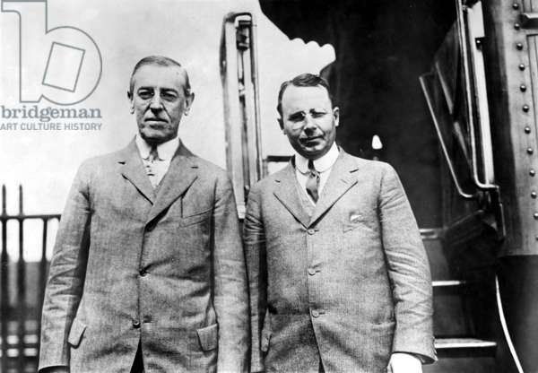 Presidential candidate Woodrow Wilson and Gubernatorial candidate James M. Cox in Columbus, Ohiio, 1912