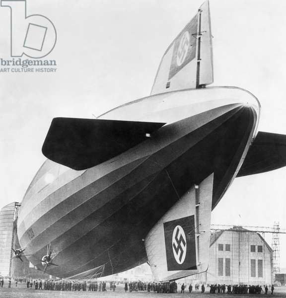 The LZ 129 Hindenburg, c.March, 1936