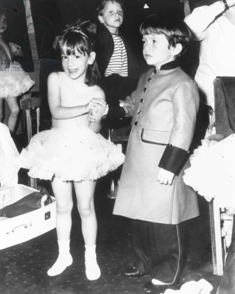 Anthony and Christina Radziwill, the children of Princess Lee Radziwill, at the Shaftesbury Theatre. June 26, 1965. They were rehearsing for an play to aid the National Society for the Prevention of Cruelty to Children