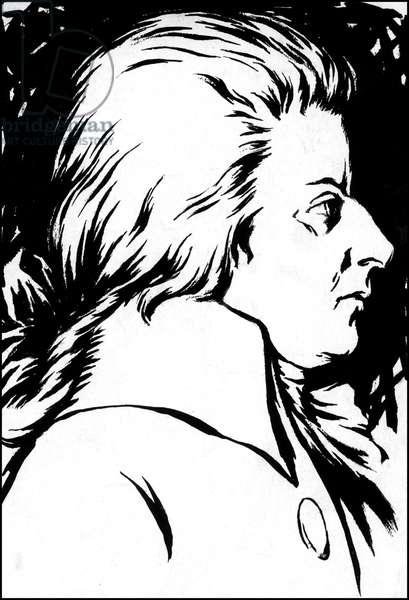 Wolfgang Amadeus Mozart, painted around 1786