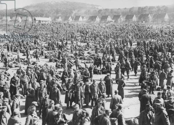 Thousands of German soldiers taken prisoner following the collapse of German resistance in the Saar and Palatinate areas early in 1945, during the last months of World War II