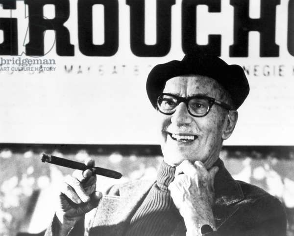 American comedian Groucho Marx, (1890-1977), c. 1975.