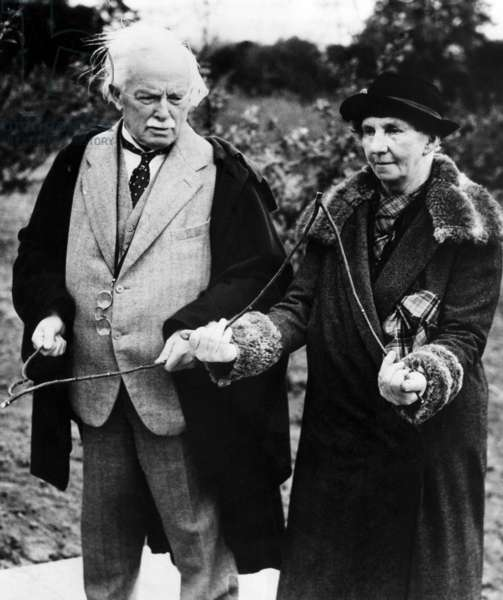 British Statesman Lloyd George and Mrs. David Wyllie, Surrey, England. May 26, 1938