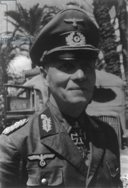 General Erwin Rommel, German commander in France and North Africa during World War 2. c. 1940-44