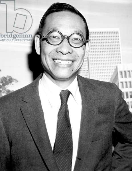 Ieoh Ming Pei, (aka I.M. Pei), Chinese-American modernist architect, 1960.