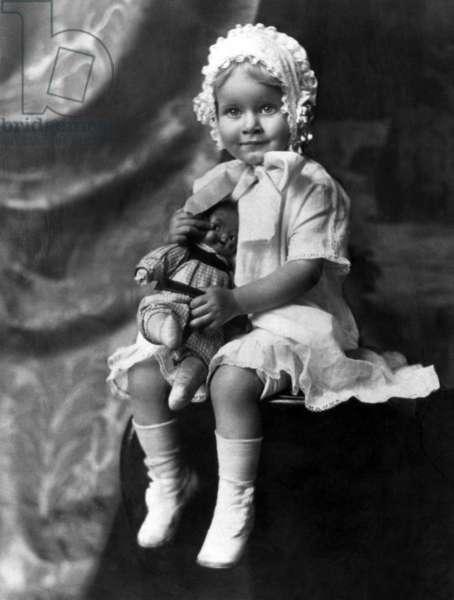 Jean Harlow at age 2, 1913