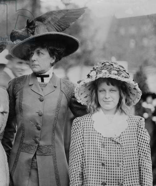 Daisy Harriman (1870-1967) with her daughter, Ethel M.B. Harriman. At this time of her life, Harriman was expanding her political activism and would support Democrat Woodrow Wilson for the Presidency