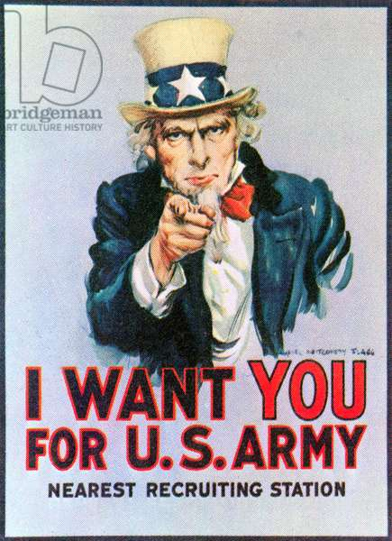 I Want You for the U.S. Army - Nearest Recruiting Station, c.1917 (poster)