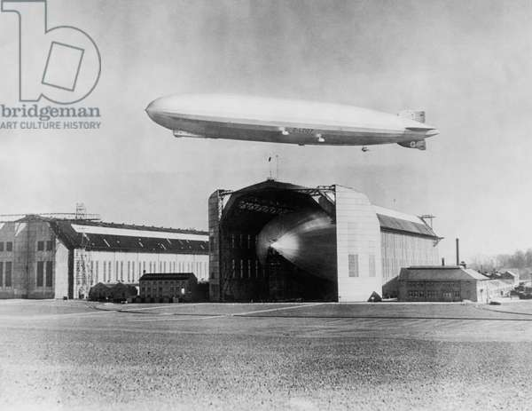 The LZ 129 Graf Zeppelin, Friedrichshafen, Germany, April 13, 1935