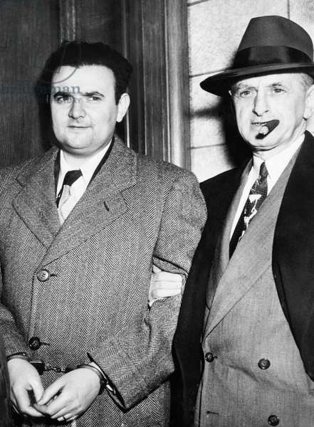 David Greenglass (left), spy for the Soviet Union, after he testified against his sister Ethel Rosenberg and her husband Julius Rosenberg in court, New York, 1951