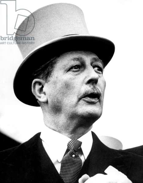 British Prime Minister Harold MacMillan, c. 1957