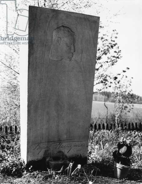 Boris Pasternak's grave in a Russian Orthodox cemetery in Peredelkino, near Moscow. May 1966. At the time of his death, Pasternak was out of favor with the Soviet Era government