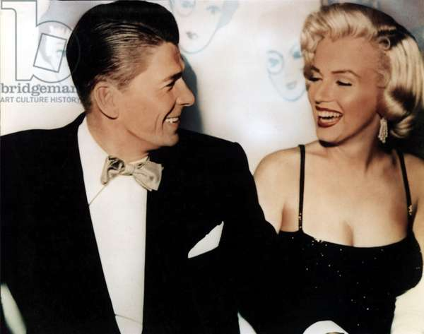 Ronald Reagan, Marilyn Monroe in the 1950s