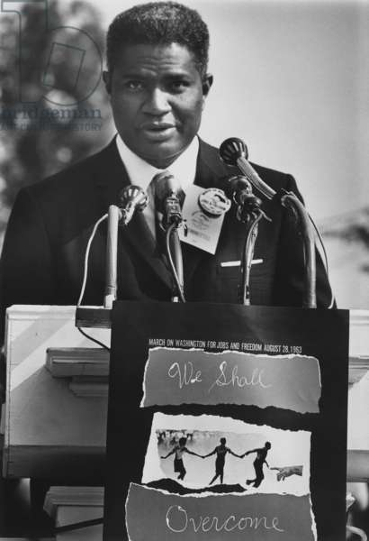 Actor Ossie Davis at the 1963 Civil Rights March on Washington. Aug. 28, 1963