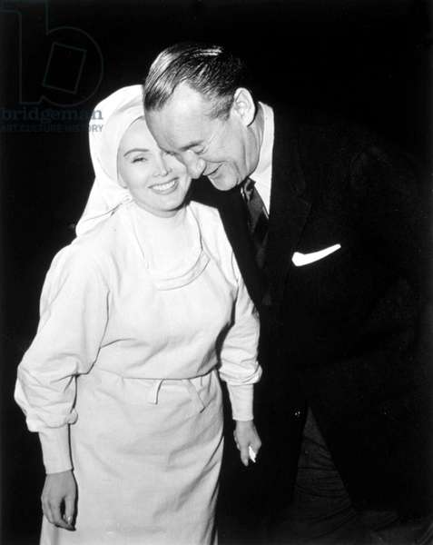 ZSA ZSA Gabor with husband George Sanders, 1957