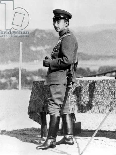 JAPANESE EMPEROR AT WAR MANEUVERS