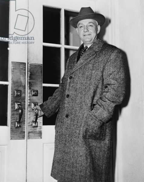 Byron Price (1891-1981) director of Censorship for the United States during World War II, entering White House, 1945