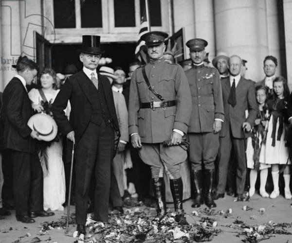 General Pershing (1860-1948) with Woodrow Wilson's Vice President Marshall on September 11, 1919