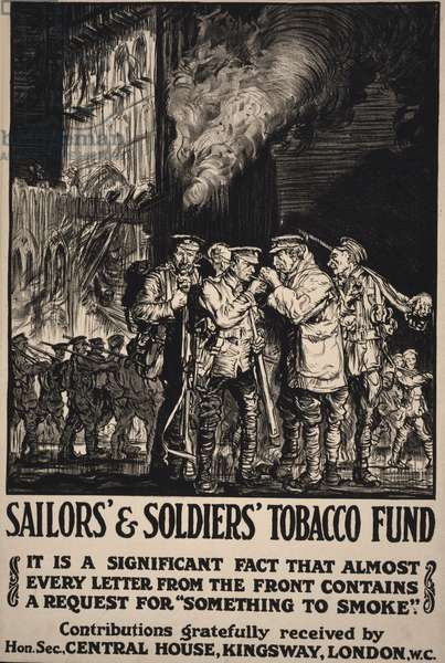 Sailors' & Soldiers' Tobacco Fund, 1915 (poster)