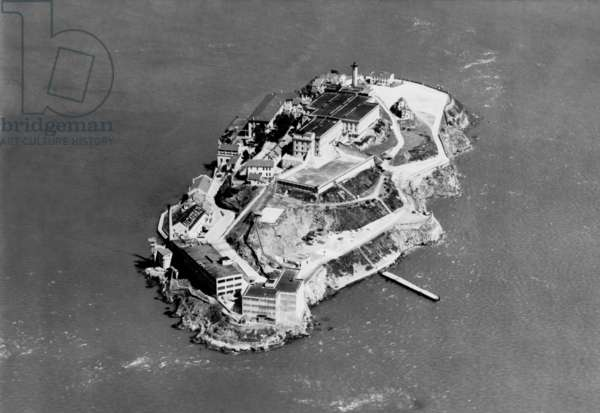 Alcatraz Federal Prison in San Francisco Bay, California, 1938