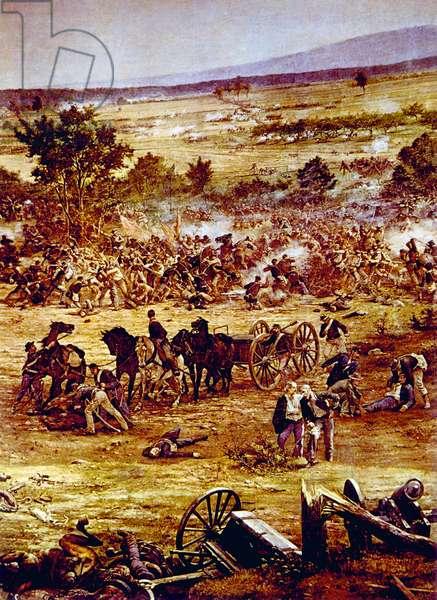 The Battle of Gettysburg, July, 1863