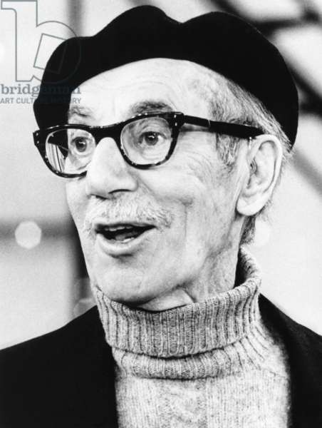 Comedian Groucho Marx at a press conference in May 1972. He was discussing the one-man show, AN EVENING WITH GROUCHO at Carnegie Hall on May 20, 1972