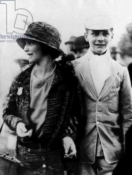 Nancy Astor, member of British Parliament, with her son William Waldorf Astor, 1923