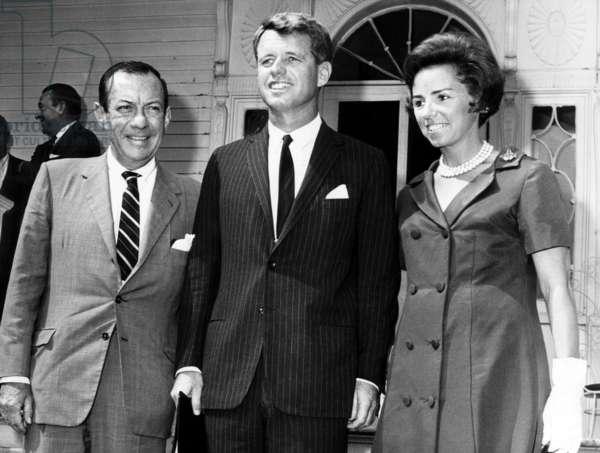 New York Mayor Robert F. Wagner, Robert F. Kennedy, Ethel Kennedy, New York, August 25, 1964.