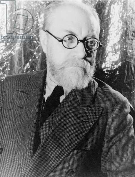 Henri Matisse (1869-1954), French painter known for his expressive use of color. 1933 (b/w photo)