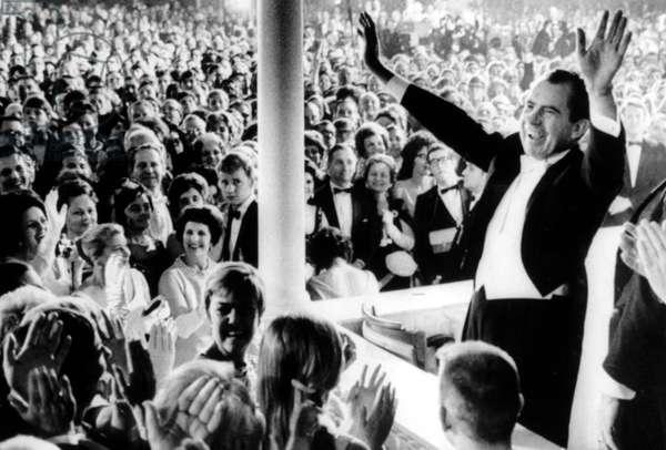 Richard Nixon at inaugural ball, Washington, D.C., 01-20-1969.