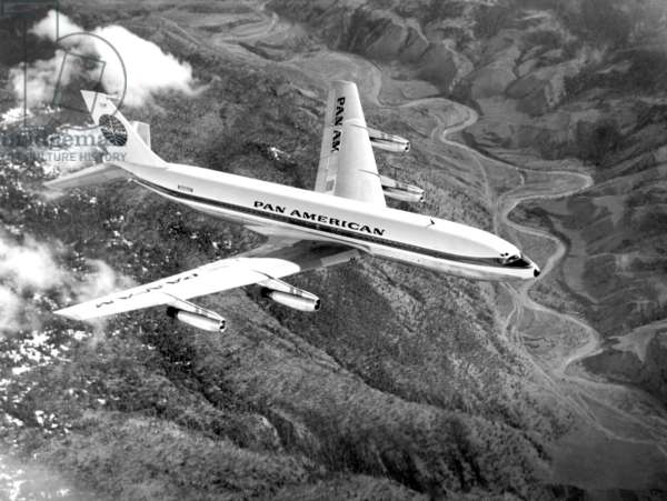 Pan American Airways, (Boeing 707-121), introduced in 1955.