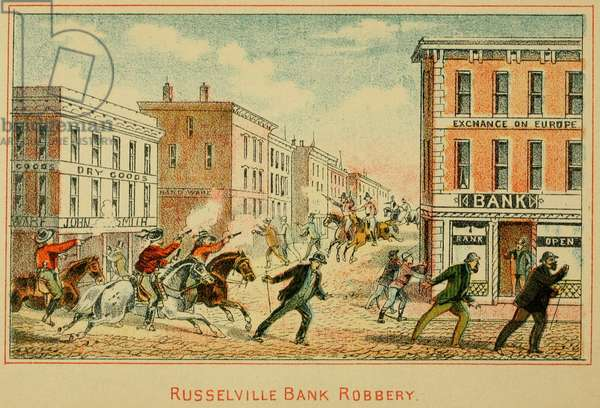 The robbery of Southern Deposit Bank in Russellville, Kentucky, of ,000 on March 20, 1868 has been attributed to Jesse James and the Younger Brothers gangs