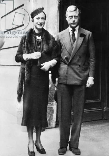 Duchess of Windsor Wallis Simpson and Prince Edward, Duke of Windsor, Budapest, Hungary, 1937