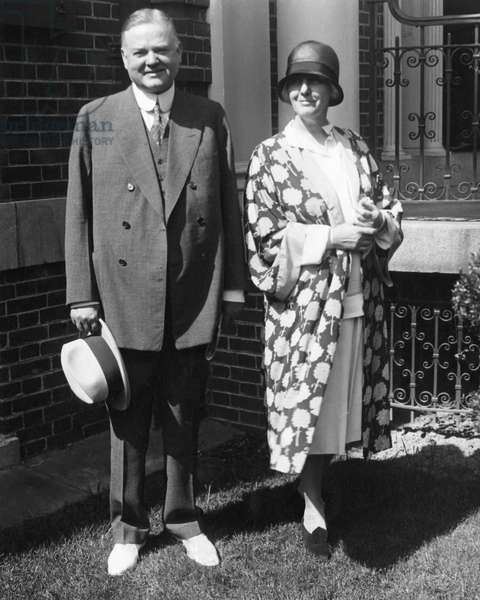 Future President Herbert Hoover, as Secretary of Commerce, future First Lady Lou Henry Hoover, August 15, 1928