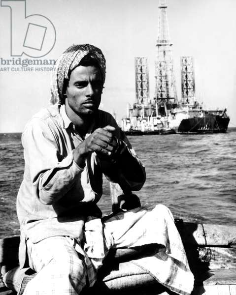 Off-shore oil rig, Saudi Arabia, February 1975