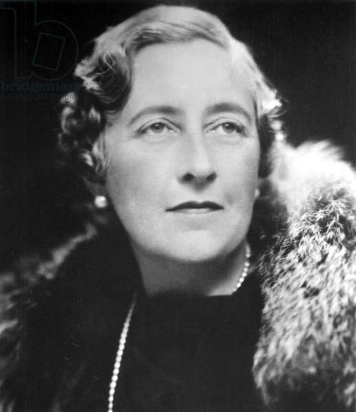 Agatha Christie (1890-1976) British mystery writer in the mid-1930s. Photo by Lenare