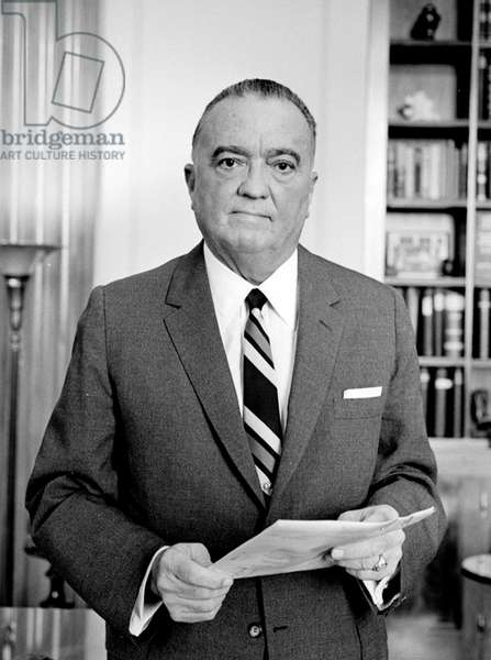 J. Edgar Hoover, founder of the Federal Bureau of Investigation. September 28, 1961. LC-U9-6738B-16